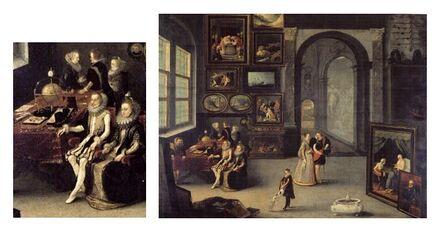 1610-1658 Hendrick Staben De aartshertogen Albrecht en Isabella bezoeken een kunstkamer.jpg
